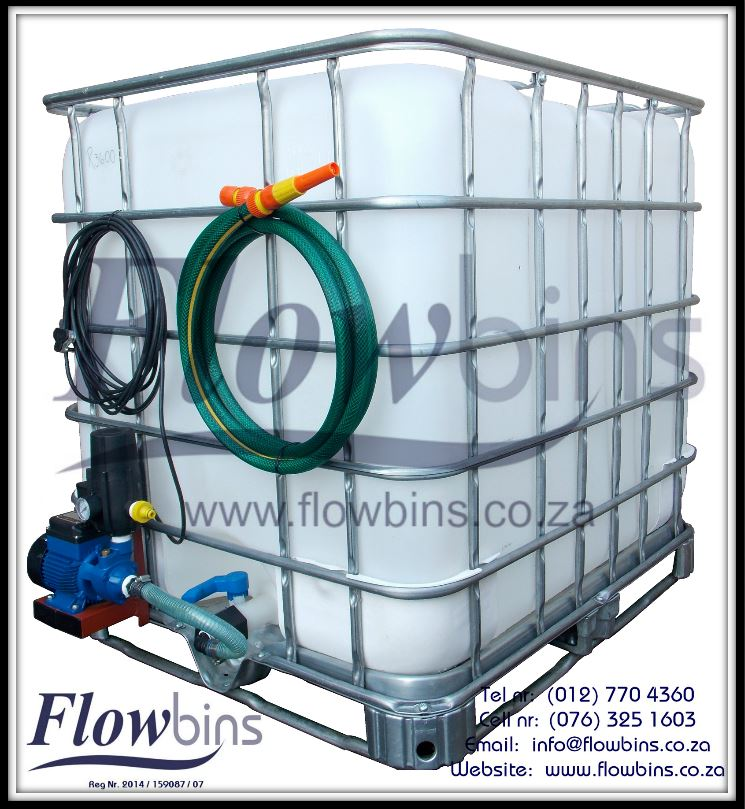 Gauteng: 1000Lt Rain Harvest Unit / Water Transport Unit / Swimming Pool Backflush Unit from R3160