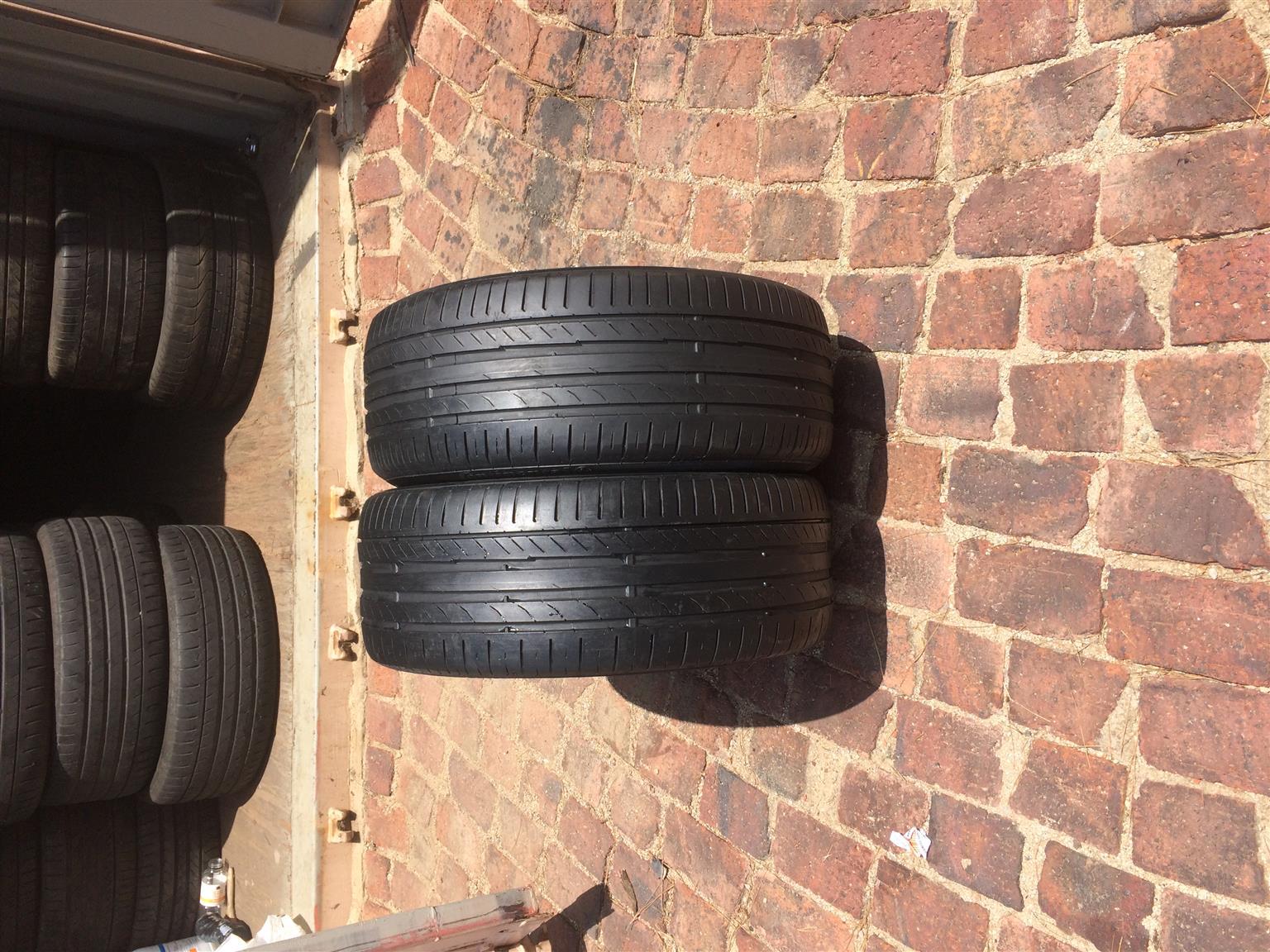 225/45/17 x 2 Continental Tyre(75% thread) 0835218884
