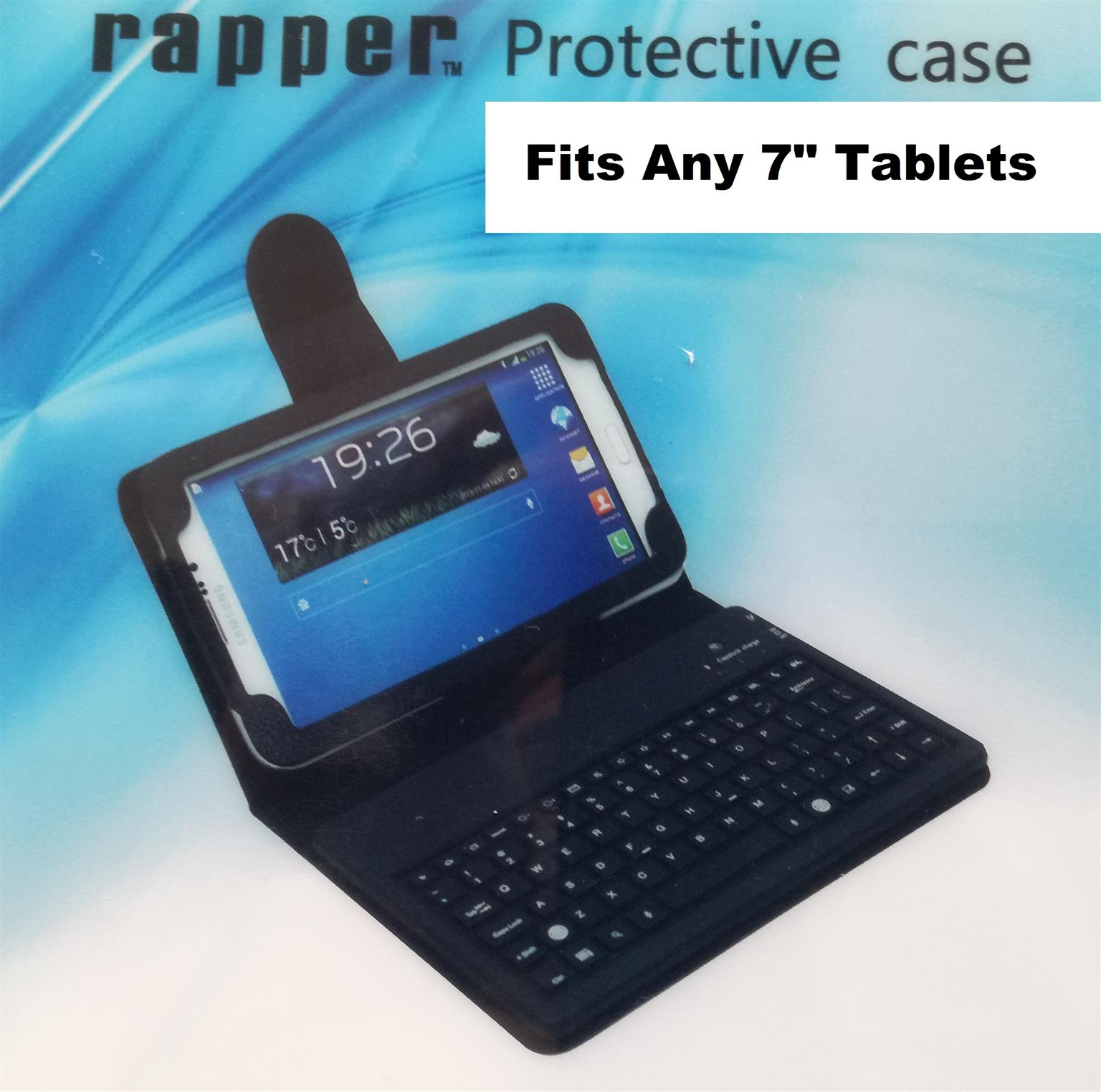 """Brand new Rapper 7"""" Tablet Protective cover with Bluetooth Keyboard"""