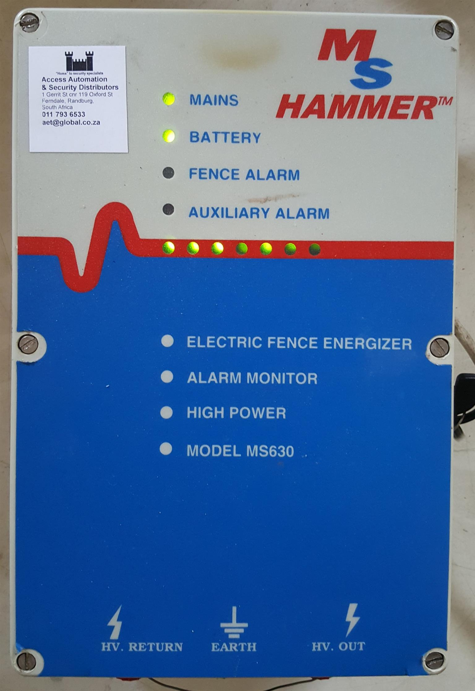 Electric Fence Energizer Hammer MS630