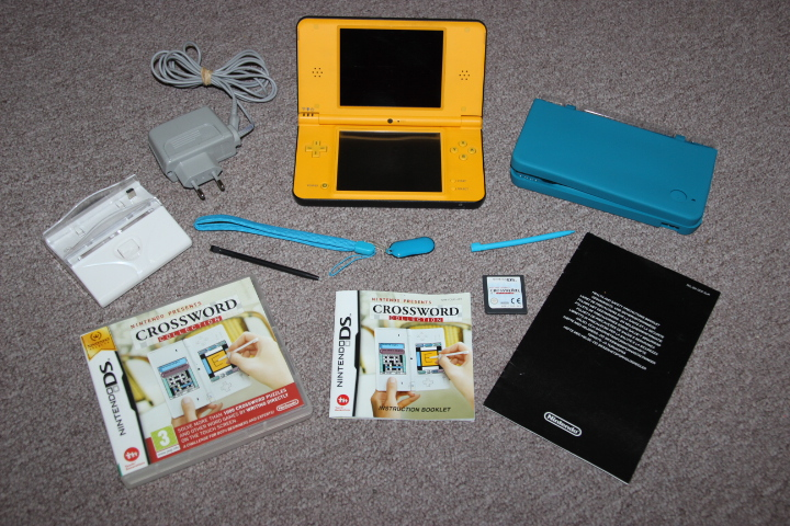 Nintendo DS XL yellow console