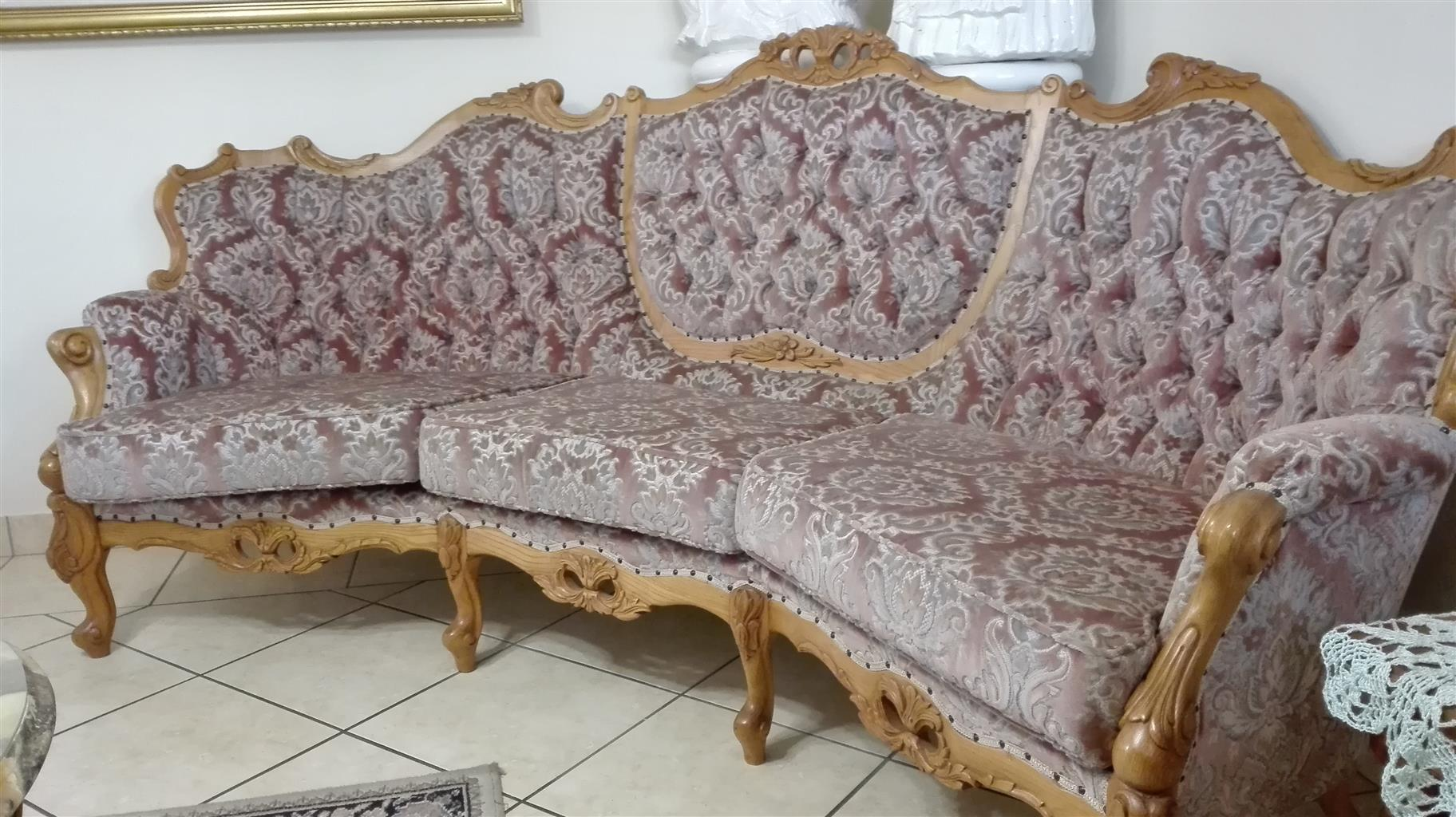 Victorian lounge suite, King Louis style.