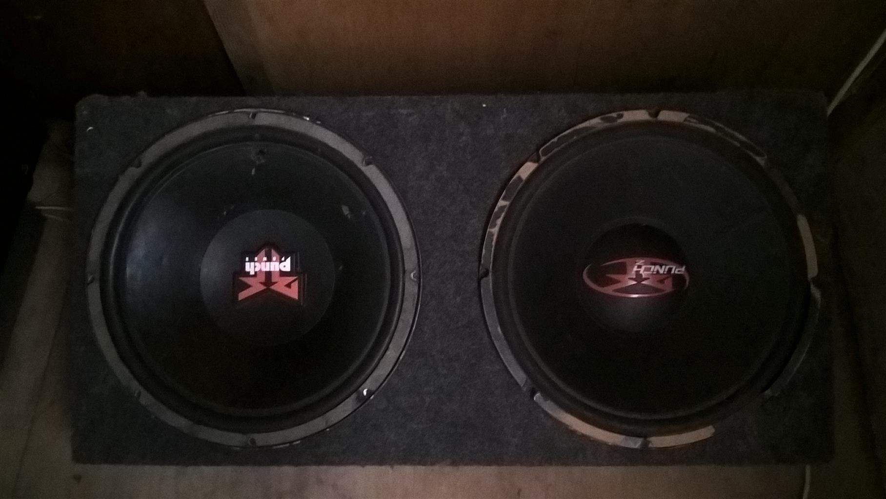 "Rockford Fosgate 15"" x2 in box"
