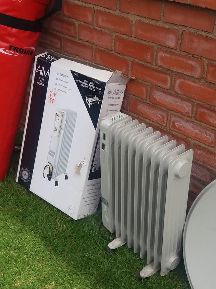 2 x 9 Fin oil heaters