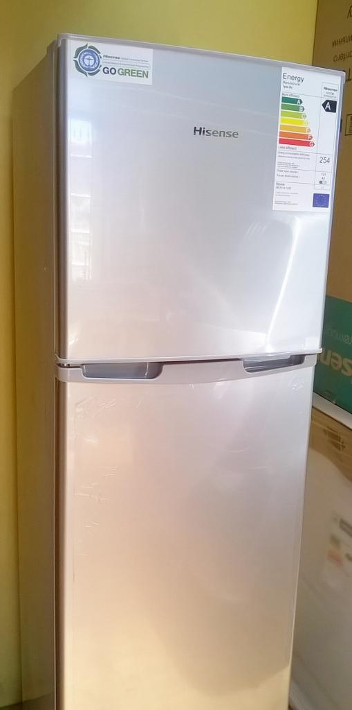 Brand new Hisense 220L fridge, metallic silver