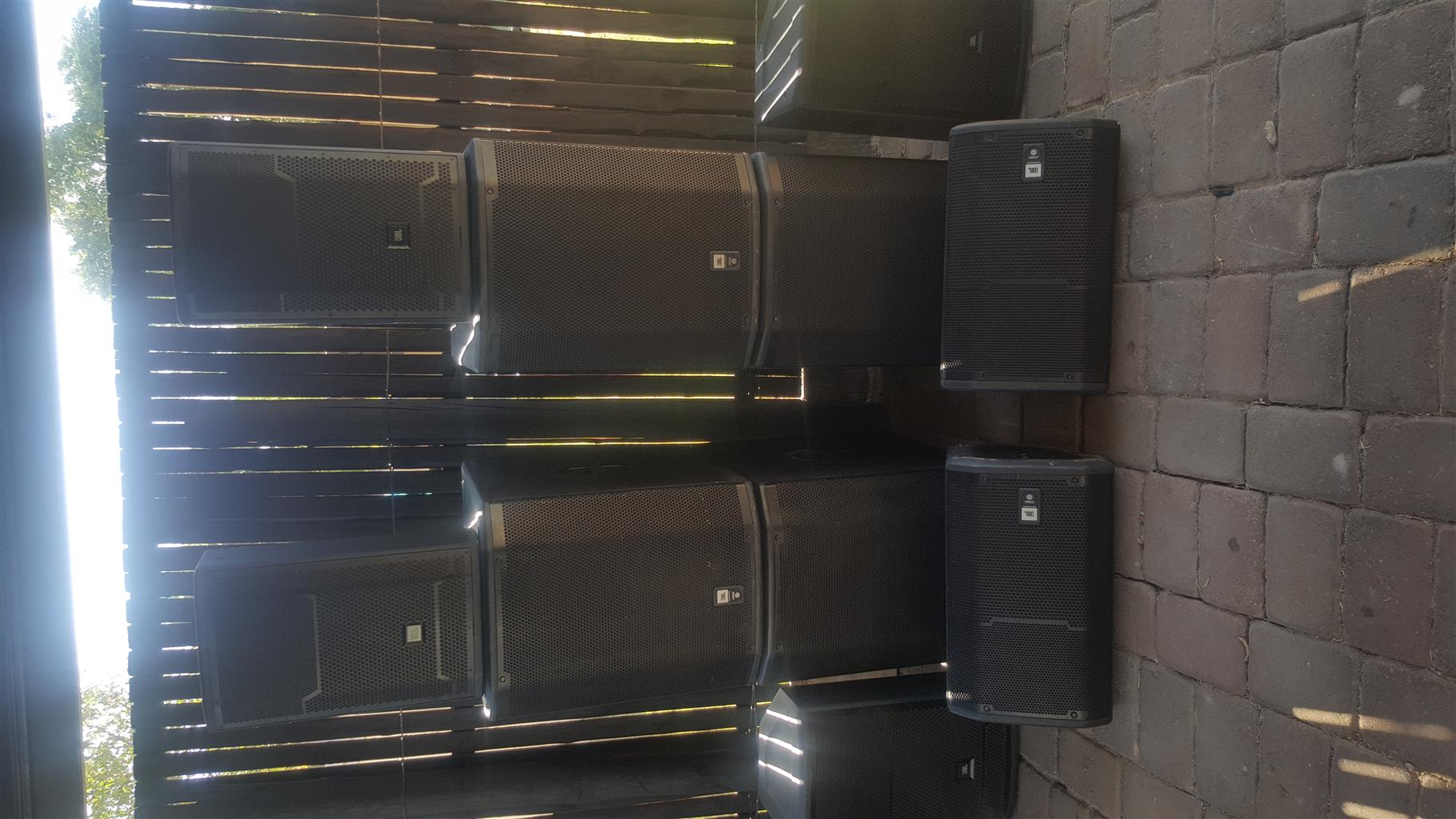 JBL PRX full speaker system with monitors(can do 800 to 1000 people)