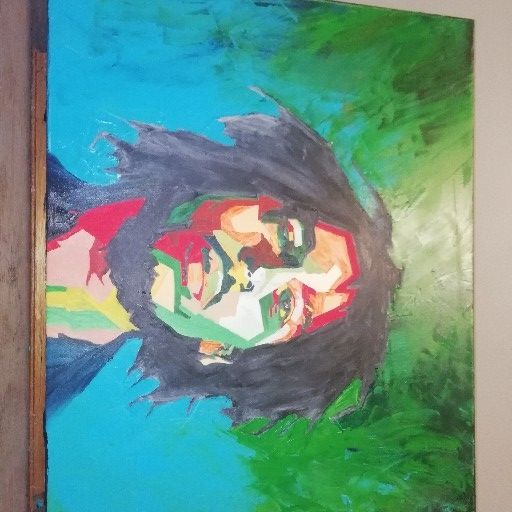 Bob Marley in his prime pop art oil on canvas
