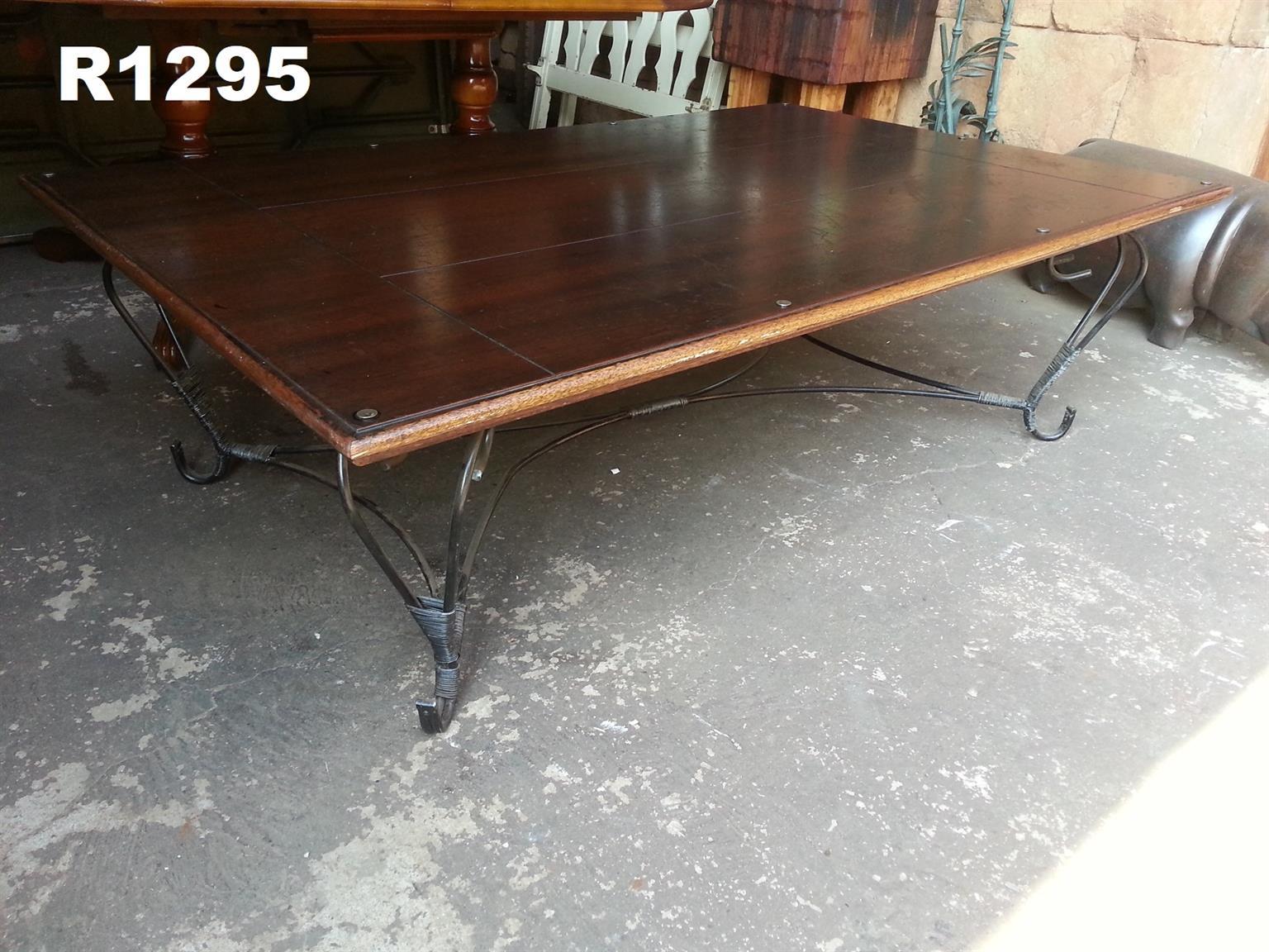 Heavy Duty Rustic Teak Patio Table (1630x1030x500)