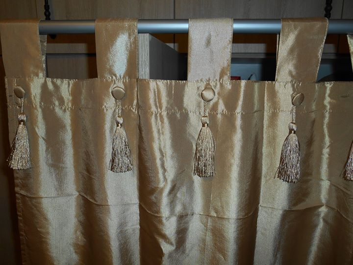 GOLD COLOURED CURTAINS