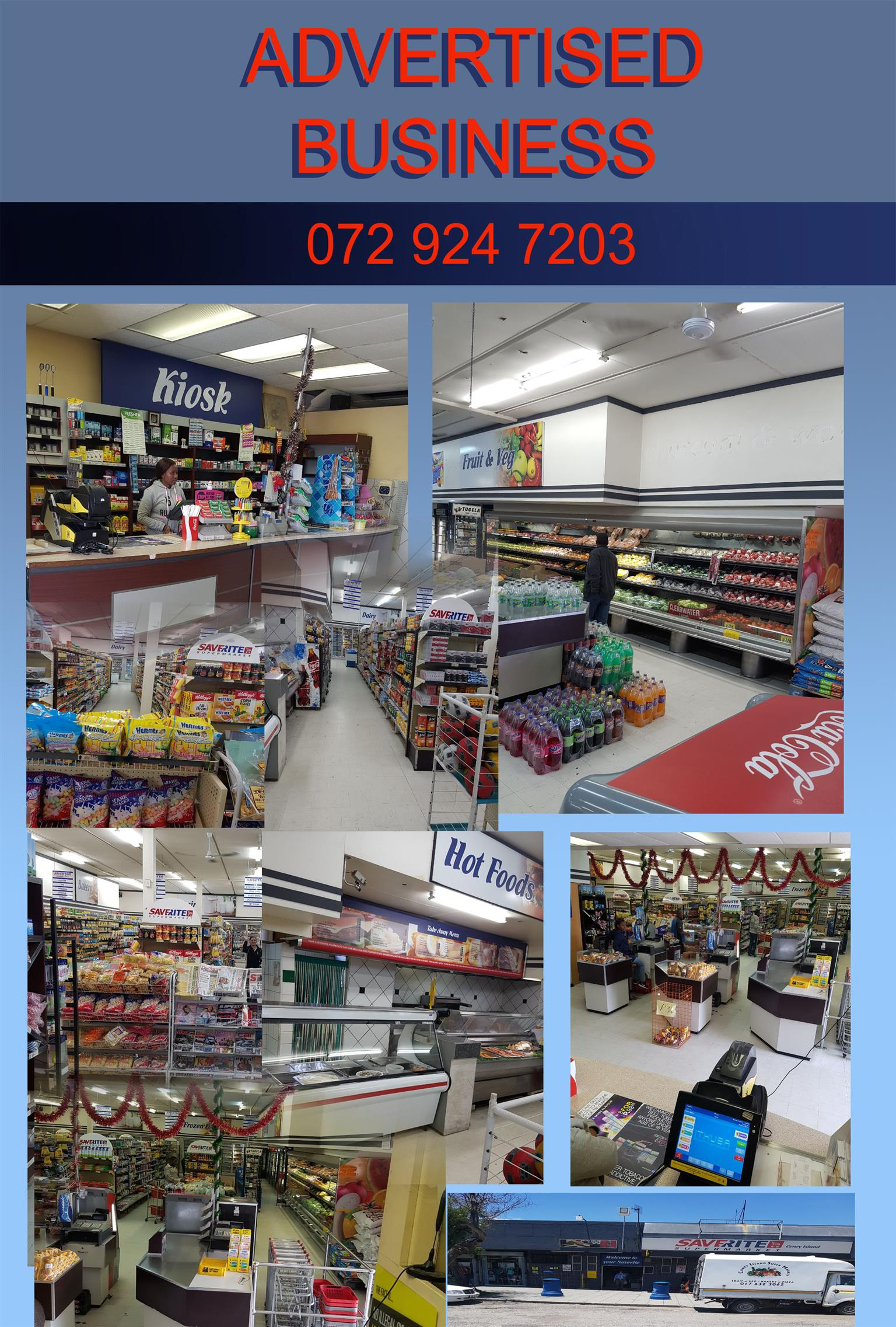 FRANCHISE SUPERMARKET IN SECUNDA AREA FOR SALE