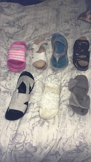 Various ladies sandals