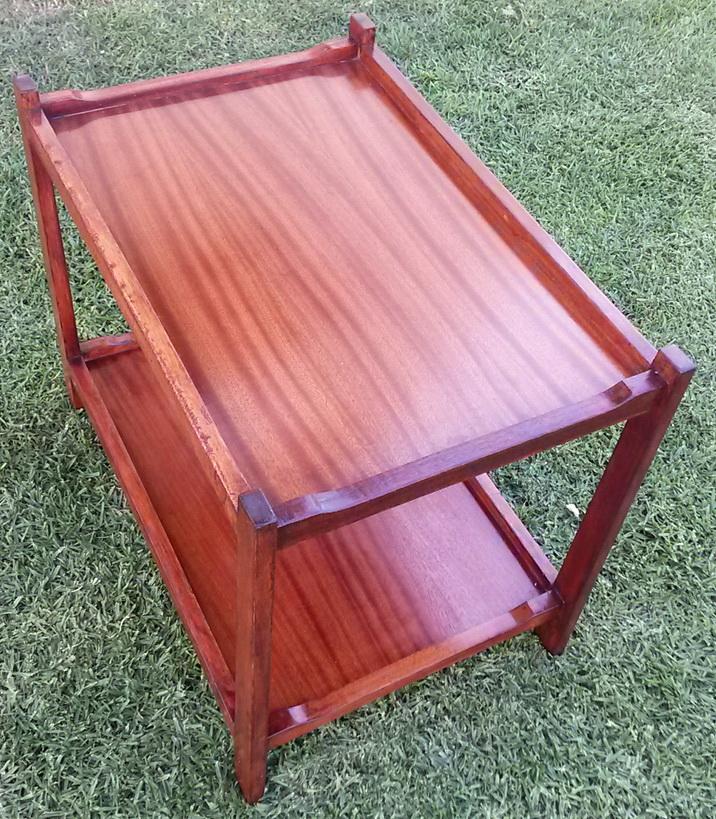 Vintage Retro 2 tier side/lamp table