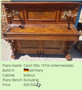 Carol Otto Upright Piano 1910s