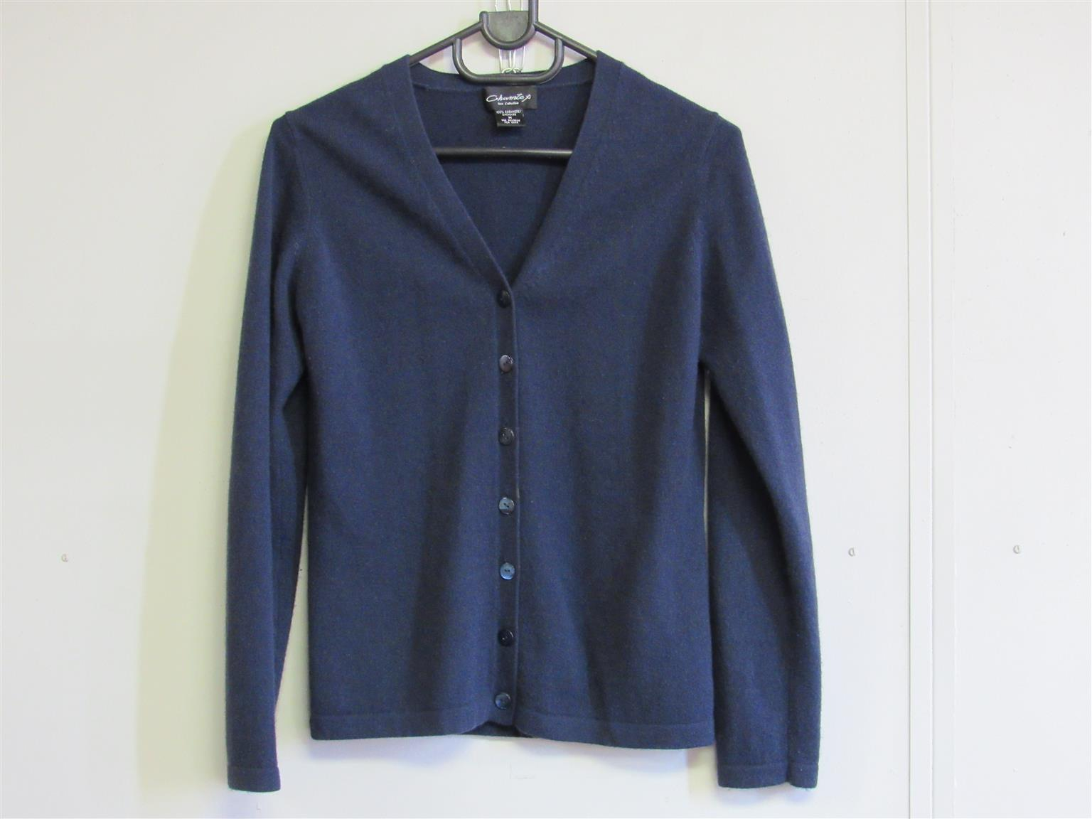 Cashmere Navy Cardigan with buttons
