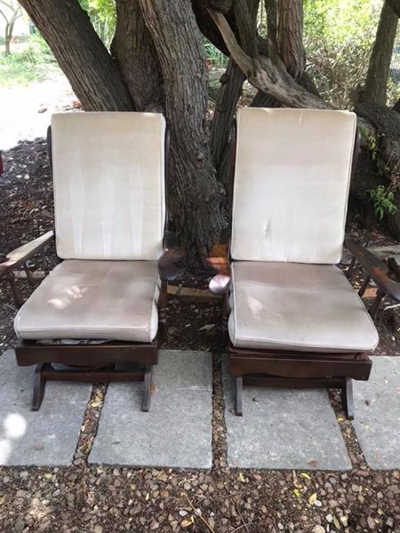 2 x Mahogony rocking chairs for sale