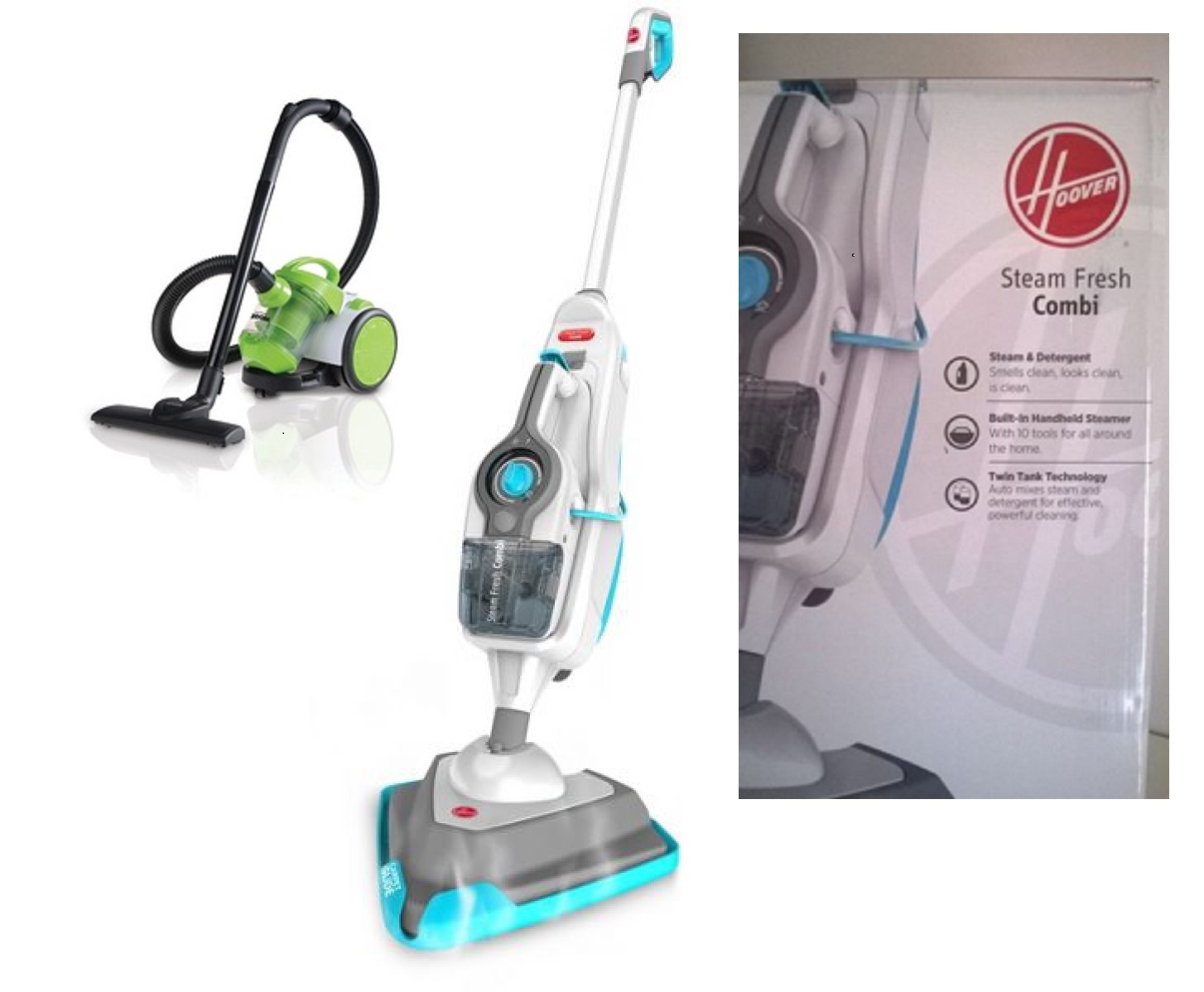 Bennett Read - Zoom compact Cannister Vacuum Cleaner and Hoover HS86 SFC ZA Steam Fresh Combi Combo Deal