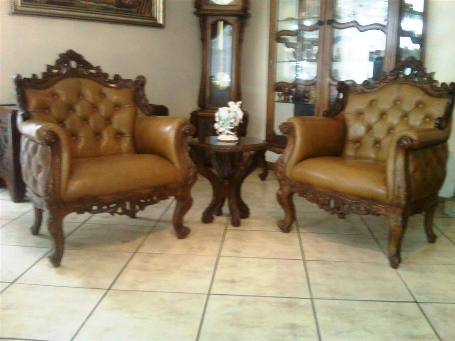 A Classic Versailles-Style Antique Lounge Suite