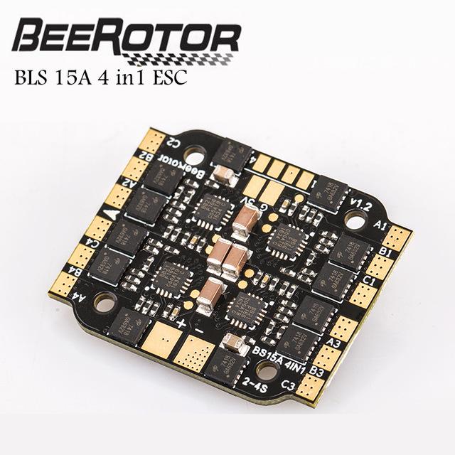 BeeRotor BS15A 4in1 OneShot/MultiShot/DSHOT/BLHeli_S ESC 2-4S