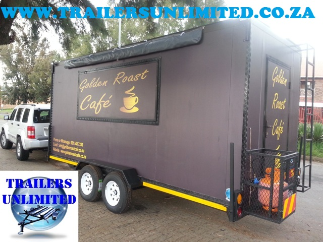 GOLDEN ROAST CAFE. TRAILERS UNLIMITED. 6000 X 2000 X 2400mm UNIT.