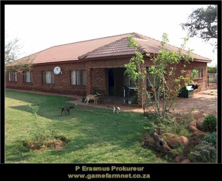 Game farm for sale. 1573 ha, 18 ha irrigation. R13,5m. Thabazimbi.