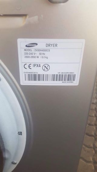 Samsung Diamond Drum, 8 kg Dryer