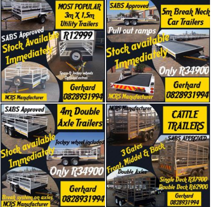 FANTASTIC DEALS ON ALL TRAILERS