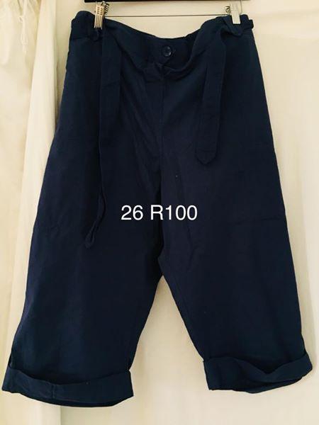 Dark blue pants with belt size 26