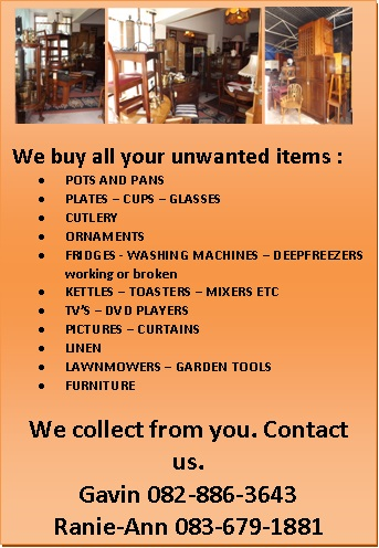 We buy all unwanted household items