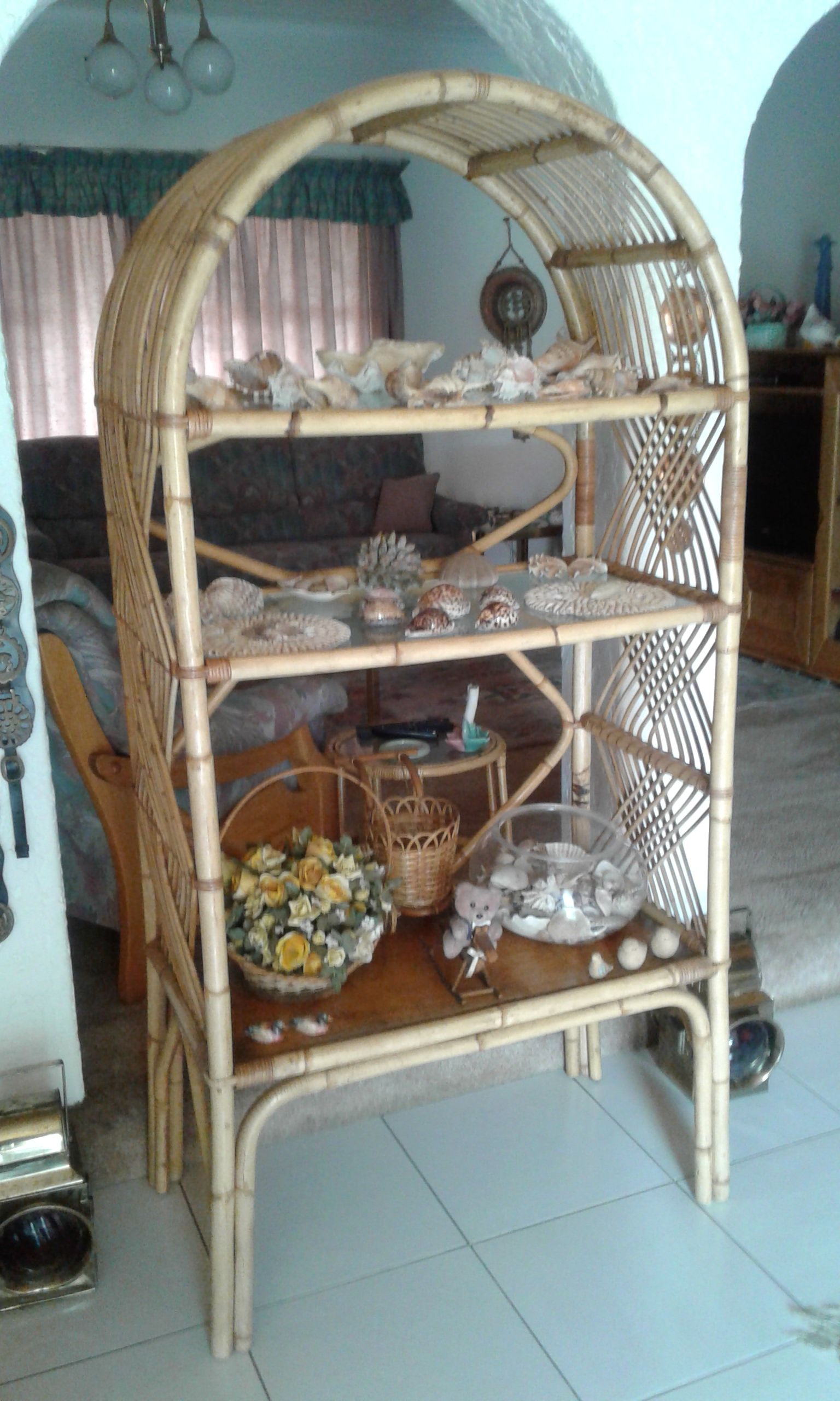 Beautiful cane arched wall unit | Junk Mail