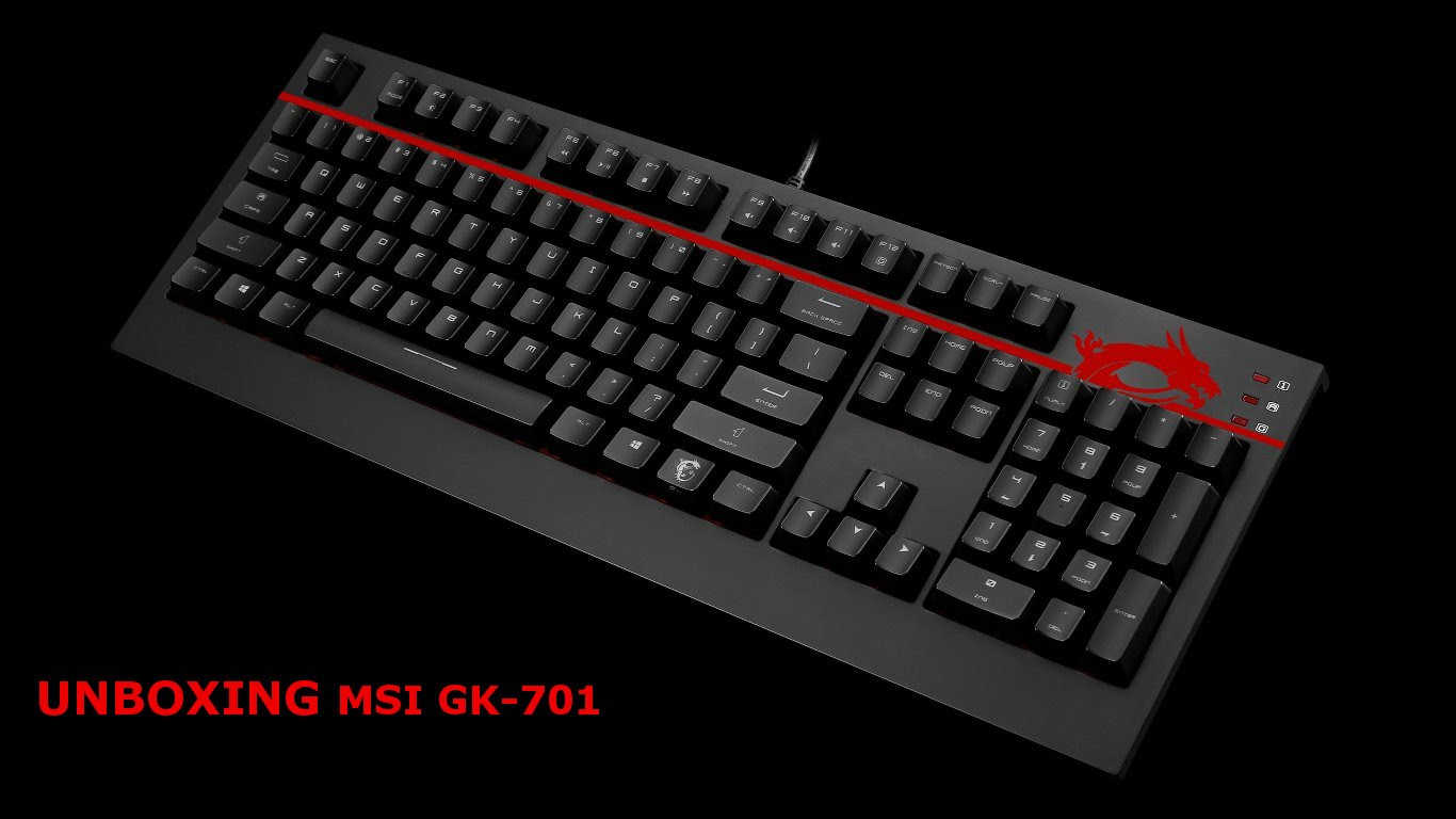 Brand new msi GK-701 USB Wired Mechanical Gaming Keyboard