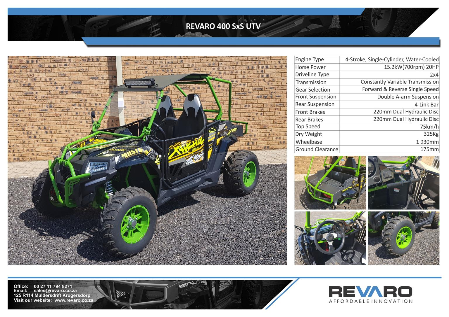 Revaro 400 side by side quad