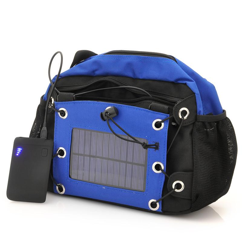 Camera Bag with Solar Panel - 2200mAh Back-up Battery -G517