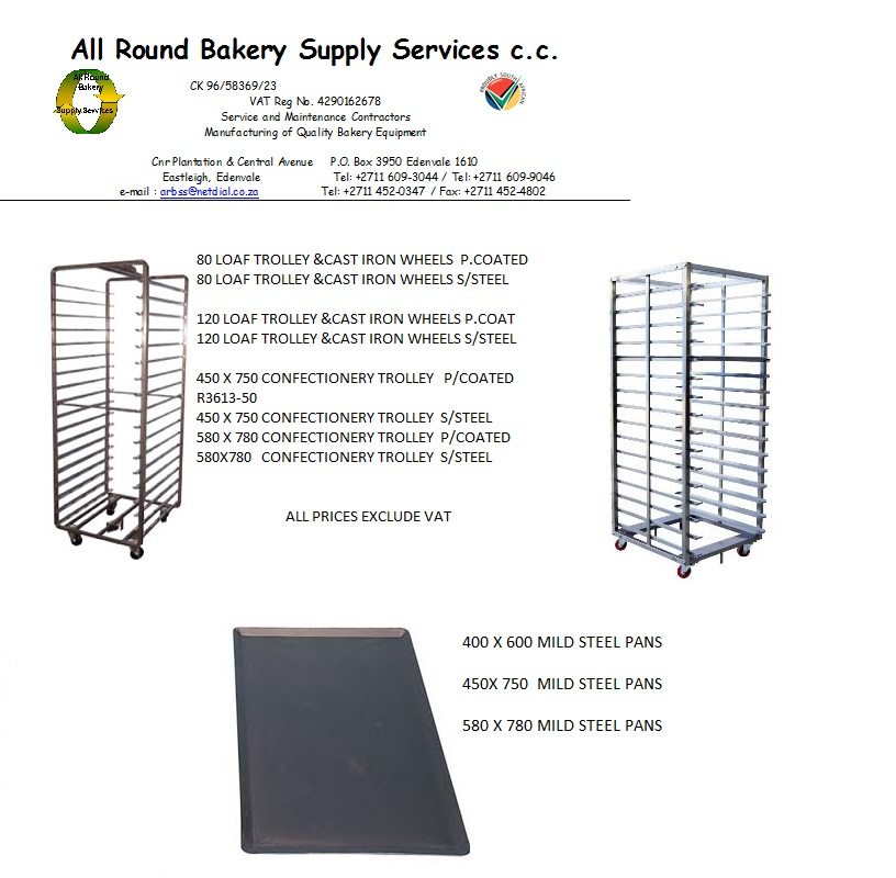 BAKERY TROLLIES