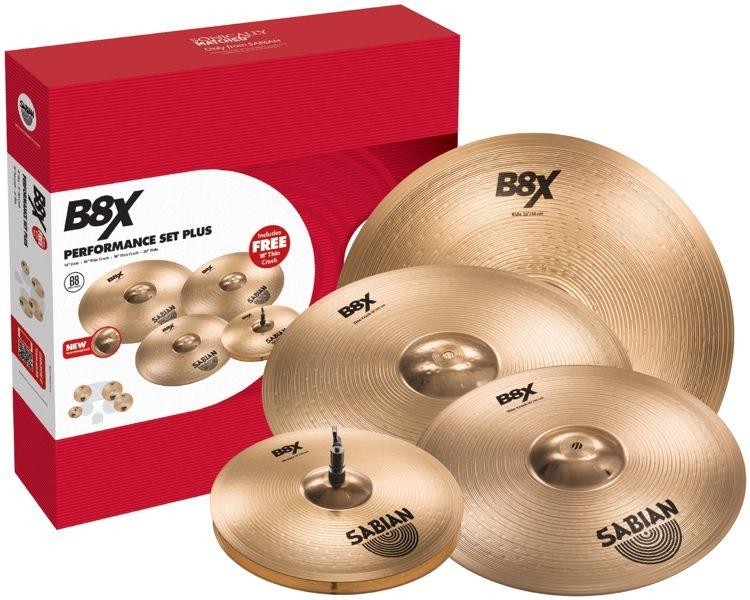 "Sabian B8X Cymbal Set with free 18"" crash included."
