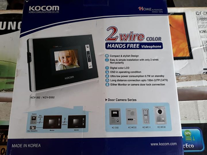 New Kocom intercom.
