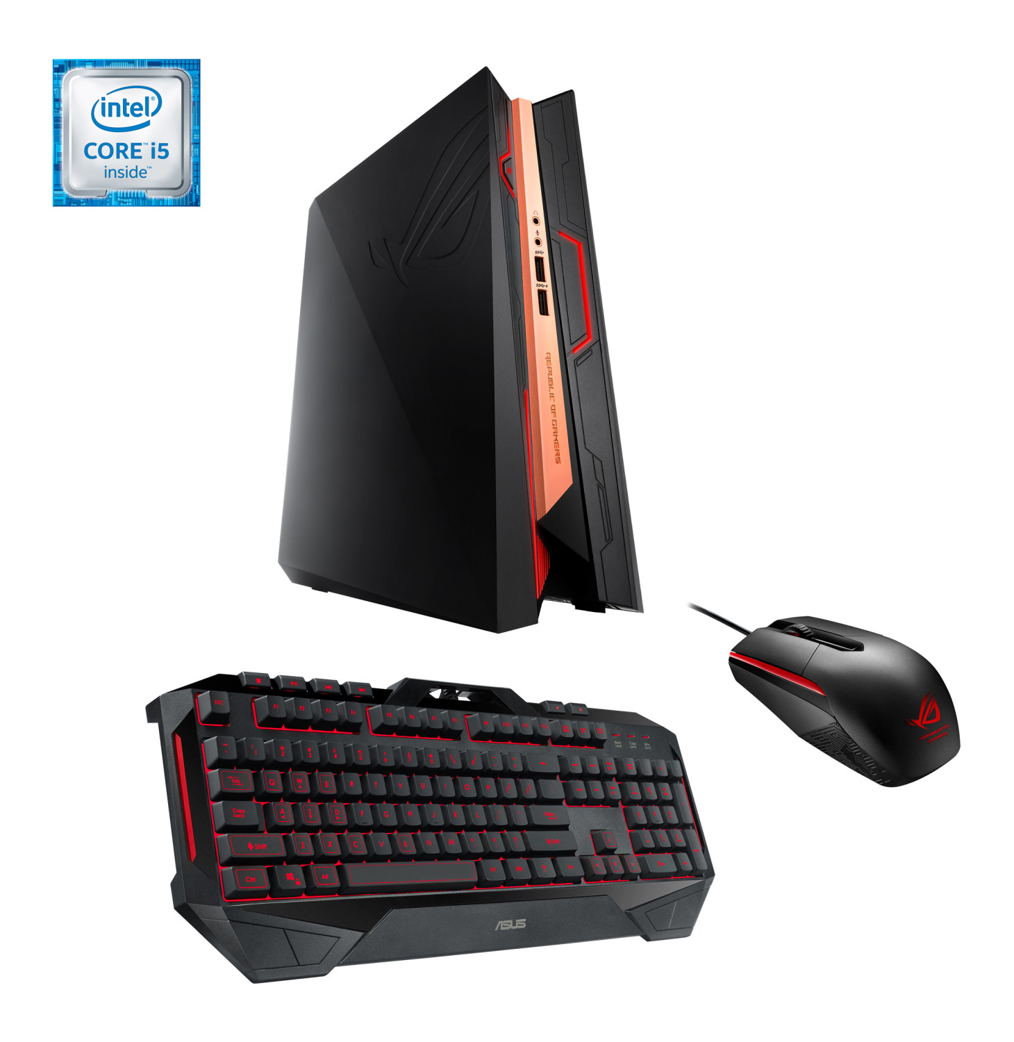 ASUS ROG GR8-II Intel Core i5 Gaming Desktop PC Bundle