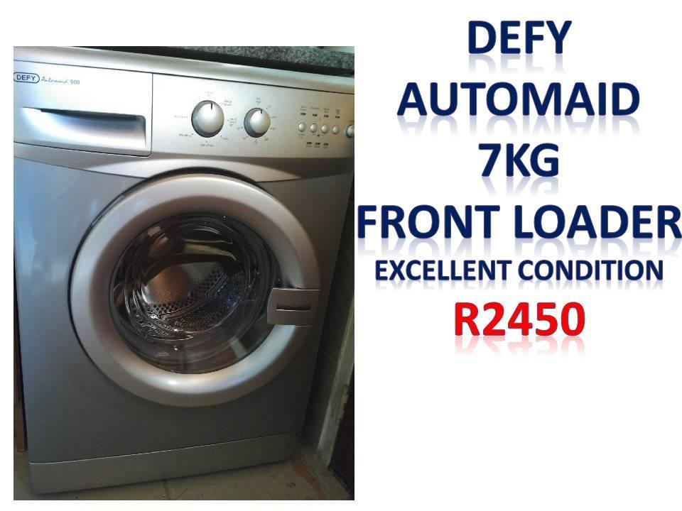 Defy automaid 7kg front loader