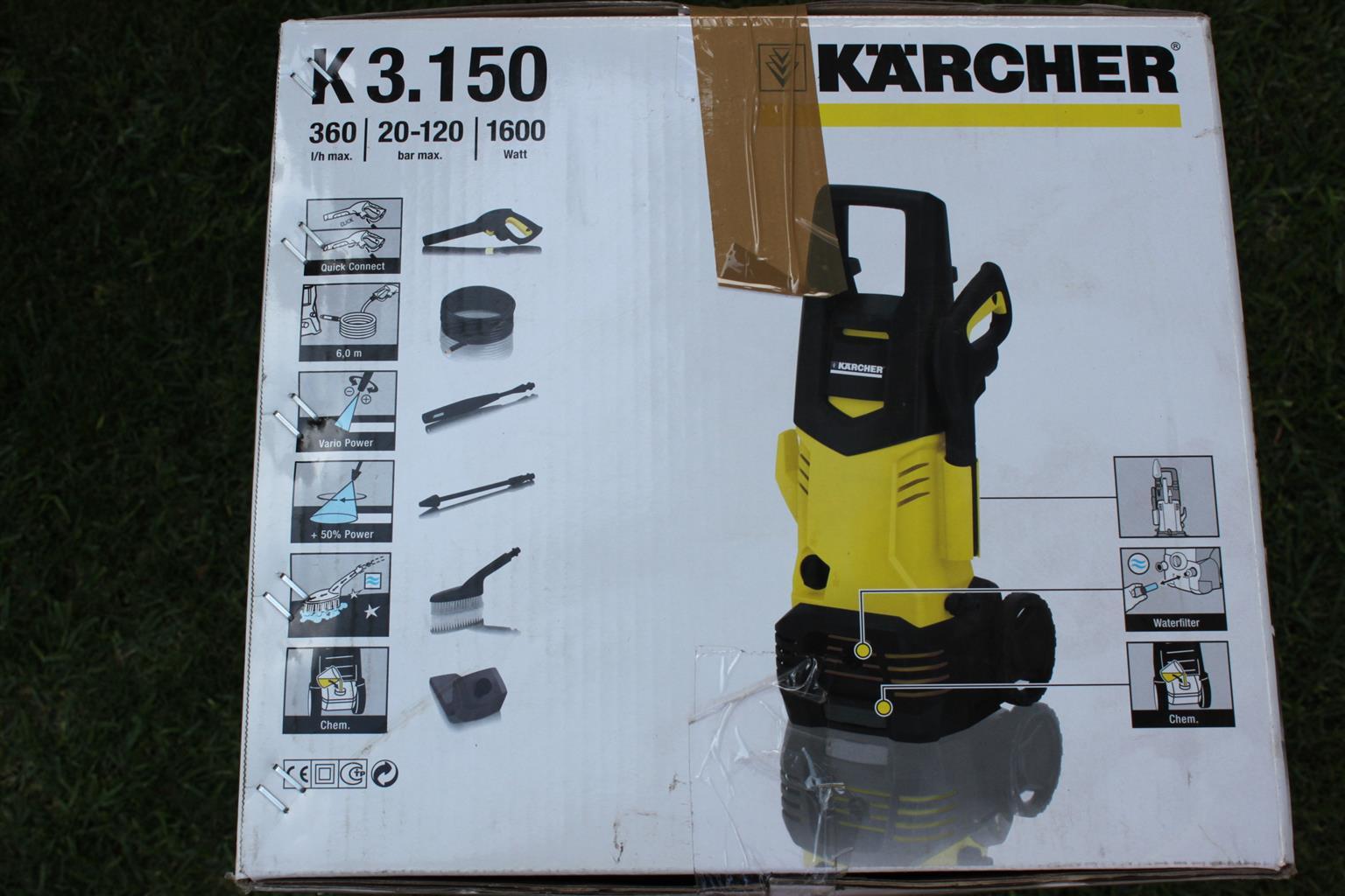Kärcher K3.150 Home & Garden Cold Water High Pressure Cleaner (New)