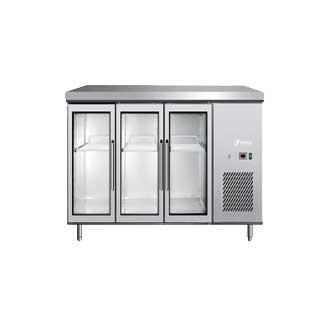 Undercounter fridge-glass door-3 door lock-EPF3731