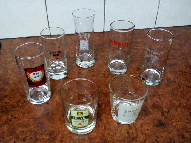 Bar Glasses : Brand Name glasses x7