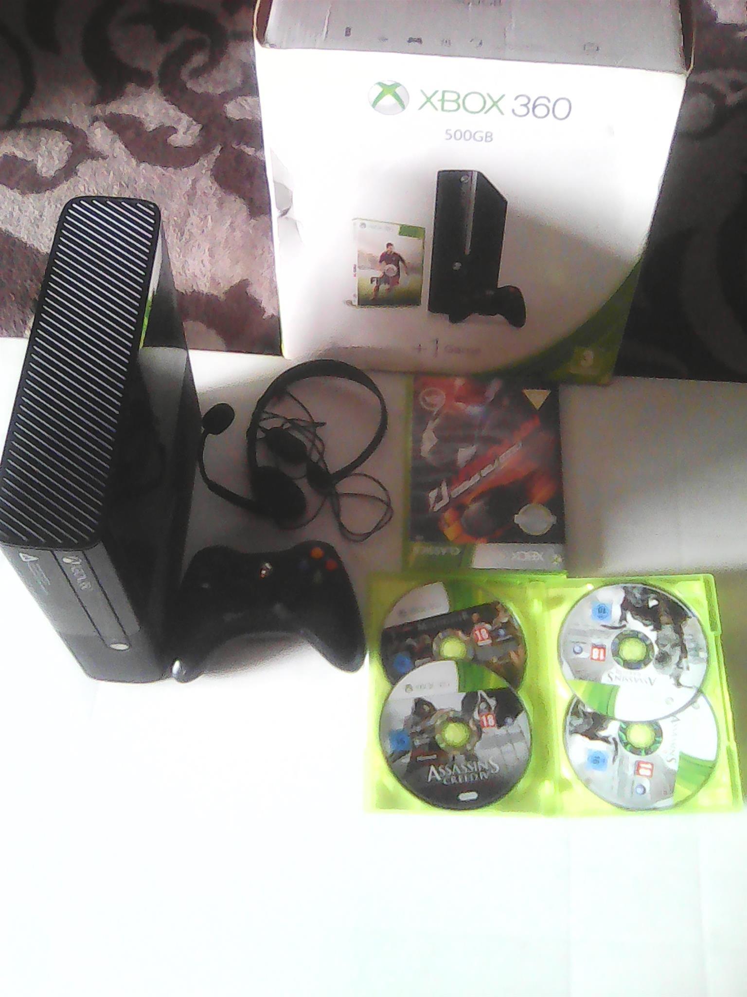 Xbox360 500GB negotiable