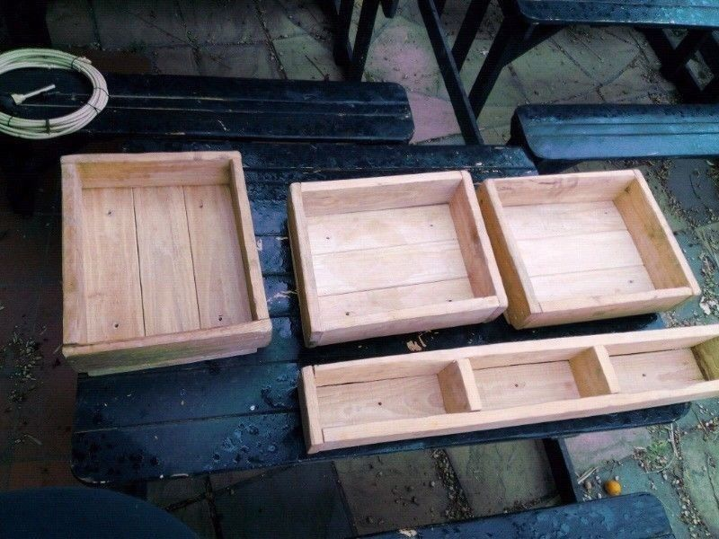 Beautifully Crafted Heavy Duty Solid Pine Wood Deco / Planter crates for sale...