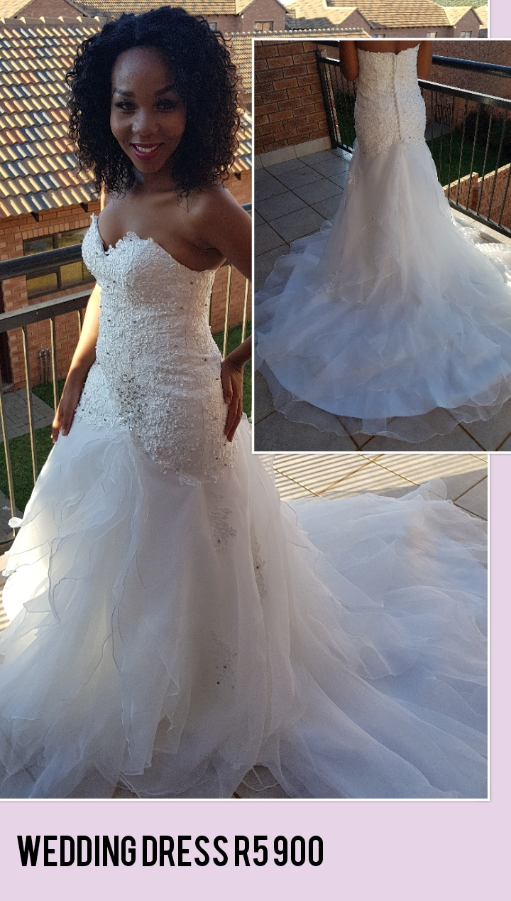 Stunning mermaid wedding dress  in a good condition
