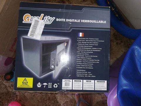 Brand new safe