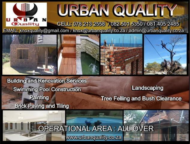 Construction, Swimming Pool and Tree Felling Services in Gauteng