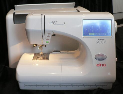 elna 9008 embroidery and sewing machine combination