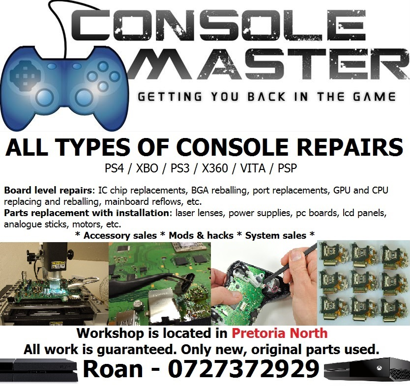 Video game console repairs & mods - Playstation & Xbox - PS4