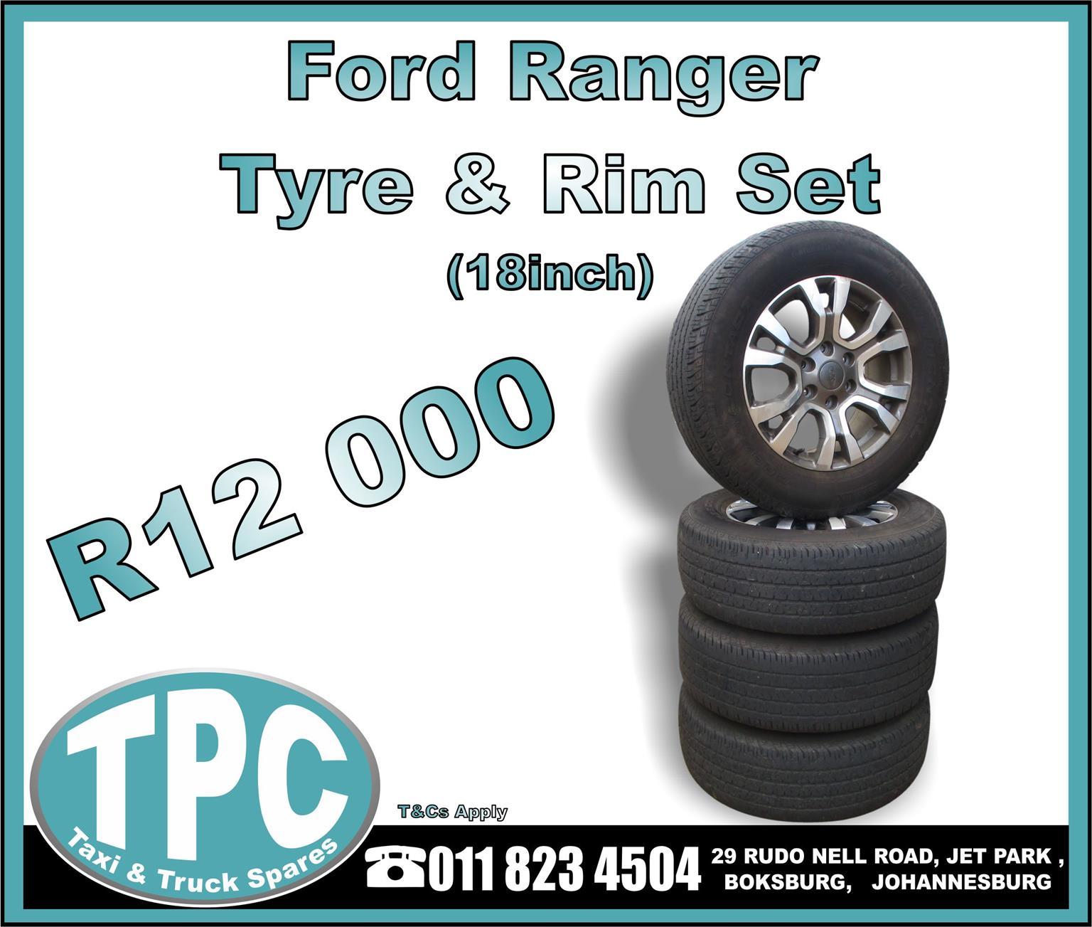 Ford Ranger Tyre & Rim Set 18 Inch - TPC