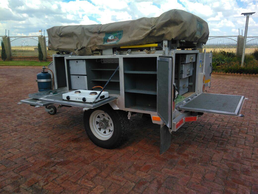 Aluglide alimunuim camping trailer.