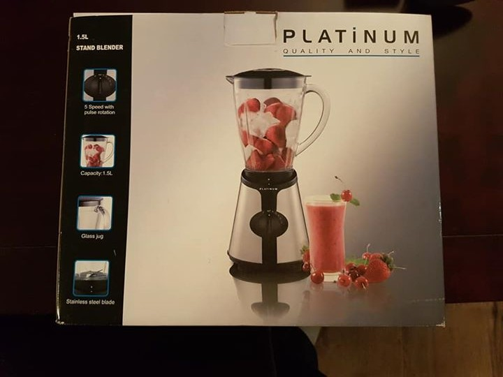 Platinum stand blender